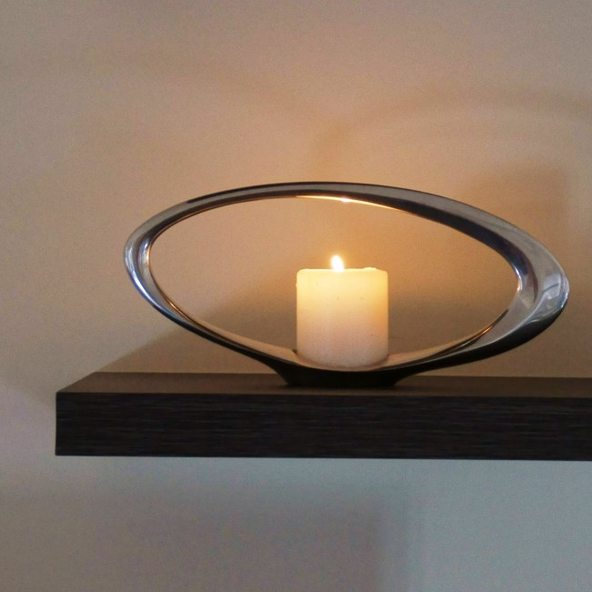 Oculars Candle Holder by Simon Colabufalo