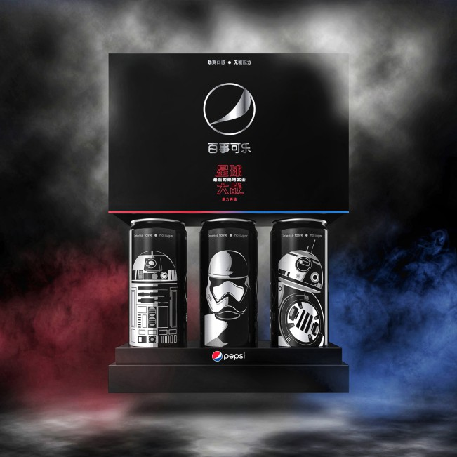 Pepsi Black x Star Wars LTO China Brand Packaging by PepsiCo Design and Innovation