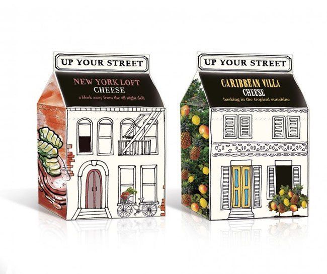 Up Your Street Cottage Cheese by Springetts Brand Design
