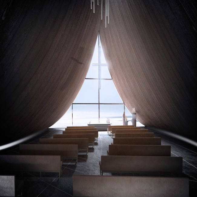 Coast Whale Chapel by Jinyu Zhang - Gold A' Design Award Winner for Architecture, Building and Structure Design Category in 2020