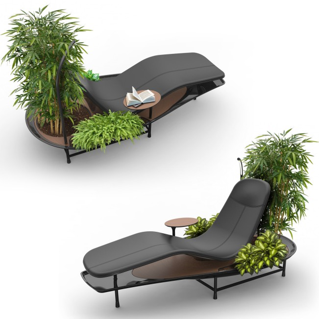 Dhyan Chaise Lounge Concept Chaise Lounge Concept by Sasank Gopinathan - Gold A' Design Award Winner for Furniture, Decorative Items and Homeware Design Category in 2020