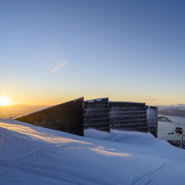 Narvik Gondola Station Gondola by Snorre Stinessen - Gold A' Design Award Winner for Architecture, Building and Structure Design Category in 2020