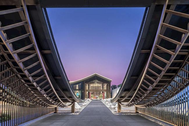 Yuzhou Lanting Mansion Exhibition Center by Tengyuan Design