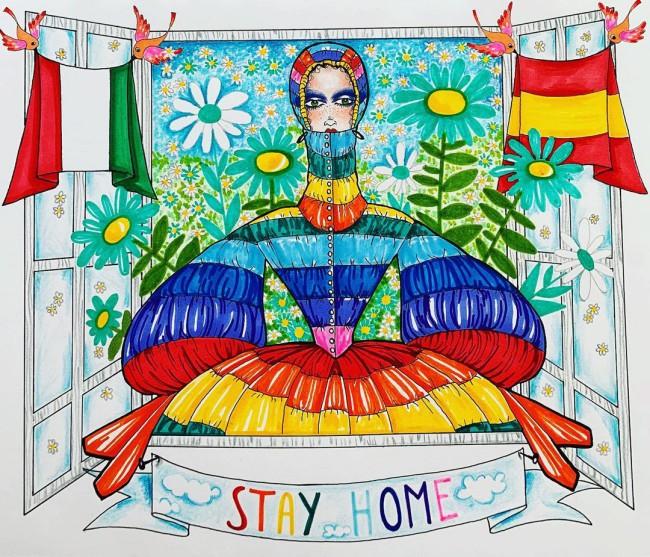 Sulla scia di #stayhome e #andràtuttobene, questa illustrazione è dedicata a Italia e Spagna, i due paesi più colpiti in Europa all'inizio di questa pandemia di Covid-19
