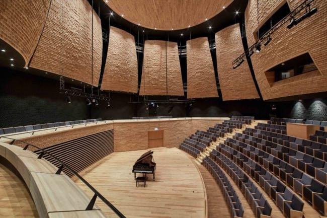 Concert Hall in Warsaw Music School by Tomasz Konior