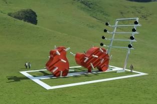 opera di arte pubblica di Michael Jantzen